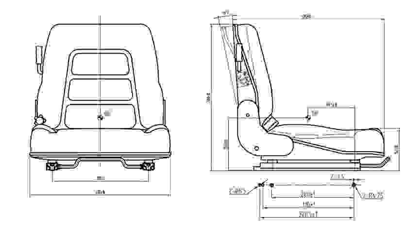 GS12 univerzális targoncaülés