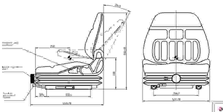 MGV25 HD targoncaülés
